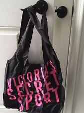 VICTORIA'S SECRET VSX Sport fold up  Pack able GYM Tote Bag NEW bonus hair ties