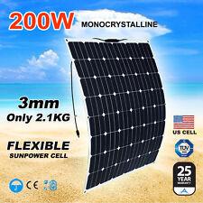 200W Flexible Solar Panel Home Generator Caravan Camping Power 12V Mono Charging