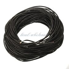 100% Real Round Leather Cord 1, 1.5, 2, 3, 4MM String Lace Thong DIY Jewellery