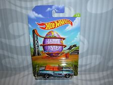 2014 HOTWHEELS ''EASTER CARS'' = `70 CHEVY CHEVELLE CONVERTIBLE = BLUE