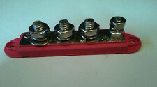"4 Post Terminal Busbar 3- 3/8"" 1-1/4"" 212 amp @ 12v DC BUSS Bar STAINLESS STEEL"