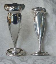Vasi coppia Art Nouveau Liberty Sheffield Silver Plated Posy Vases 1911