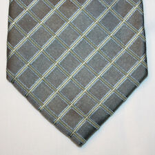 NEW Axcess Silk Neck Tie Gray with Light Blue and Beige Plaids 1231