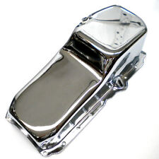 Chrome Small Block Chevy Oil Pan fits 305 350 Engines 1985 and Up One Piece Rear