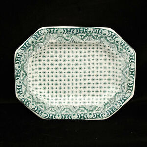 Pearlware Childs Miniature Meat Platter DIMITY Dimmock Staffordshire c1840 Green