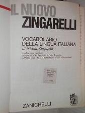 IL NUOVO ZINGARELLI Nicola Zingarelli Zanichelli 1985 linguistica vocabolario di