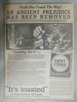 Lucky Strike Ad: Winsor McCay Illustrated Ad from 1929 Size: 10 x 14 inches