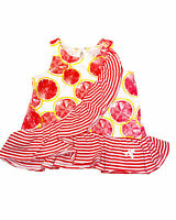 """""""Burt's Bees Baby"""" Girls Grapefruit Top - Size: 0-3 Months - Color: Red/White"""