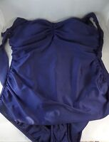 NWT Esther Williams Bathing Beauty Navy Blue 1pc Swimsuit Sz 22W Pin Up Look