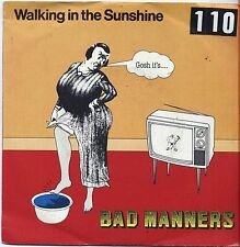 "BAD MANNERS - Walking in the sunshine - VINYL 7"" 45 LP ITALY 1981 VG+ COVER VG-"