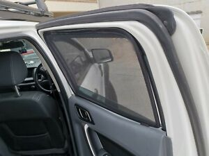 Rear Magnetic Window Sun Shades Mesh for Ford Ranger 2011-21 PX Tailored