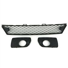 3pc Volvo OEM Lower Front Bumper Grille Inserts w/PAS for XC70 2008-2013