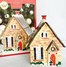 Lenox - Home For The Holidays Porcelain Christmas Cookie Biscuits Jar - New Nib
