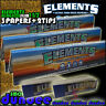3 Elements King Size Slim Rolling Papers & 2 Elements Tips Roach