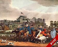 KING GEORGE III FOX HUNT HORSE FOXHUNTING HUNTING ART PAINTING REAL CANVAS PRINT