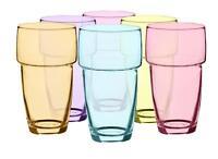 6 Hitzebeständige Gläser 300ml Mix Kaffeegläser Trinkgläser Saftgläser Stapelbar