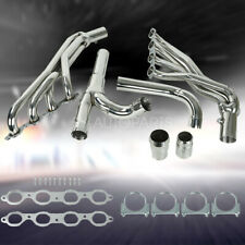 Fits Chevy Gmc 14 17 53l 62l Long Tube Stainless Steel Headers With Y Pipe