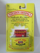 MATCHBOX ORIGINALS No5 BUS, MINT UNOPENED MODEL. GOOD CARD