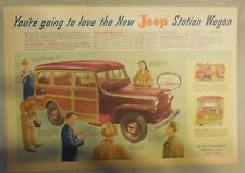Willy's Jeep Ad: You're Going To Love The New Jeep Station Wagon from 1946
