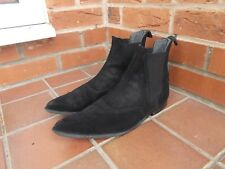UNDERGROUND Black Suede WINKLEPICKER Chelsea Boots * 9 uk * 43 *