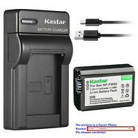Kastar Battery Slim USB Charger for Sony NP-FW50 Sony NEX-5 NEX-5N NEX-5R NEX-5T