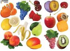 Aufkleber Sticker Wandaufkleber Wandsticker Deko Obst Beeren Früchte Küche Möbel