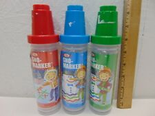LARGE HUGE LOT OF 26 IDEAL SNO-MARKER FUN FOR KIDS IN THE SNOW-KIT-BOTTLES