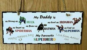 HAPPY BIRTHDAY MAMMY Super Hero Gift Personalised Plaque Keepsake Sign Mam Mum