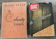 ELLERY QUEEN CALAMITY TOWN FIRST ED HC VG+ & THE DOOR BETWEEN TRIANGLE W/DJ 1942