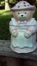 Vintage Mom Bear Glazed Ceramic  Cookie Jar