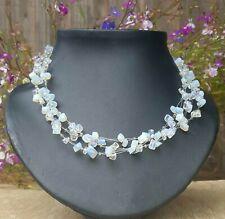 *Freedom Tree* Triple Strand Moonstone Gemstone Necklace Chakra /Healing