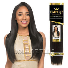 Sensationnel Empire 100% Human Hair Weaving Extension Argan Oil Straight Yaki