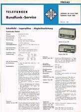 Telefunken Jubilate de Luxe 1361 Teak Röhrenradio Schaltplan 6 Seiten Original
