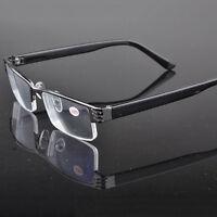 Reading Glasses Unisex / Mens Ladies Trendy Designer 1.0 to 3.5, Black Gun Frame