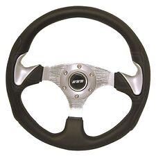 320mm Steering Wheel - Silver Thumb Spats - M Range M32X3PPBS - Mountney