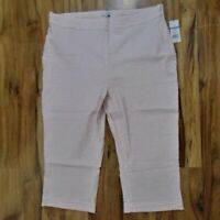 "Kim Rogers Seersucker ""Spring Polish"" Capri Pants-Size:  18...NWT"