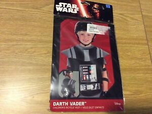 Darth Vader Children's Bicycle Vest Bell Brand Ages 5-8 Star Wars