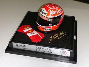 Michael Schumacher Helmet F1 Ferrari 2000 Hot Wheels Helm 1:8 +++TOP ZUSTAND+++