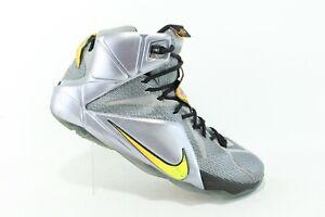 Nike LeBron XII 12 Men's Sz 12 Flight Pack Sneaker Wolf Grey Citrus 684593-080