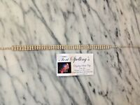 VINTAGE TORI SPELLING OWNED ESTATE PIECE PRONG RHINESTONES 3 ROW CHOKER NECKLACE