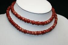 Antik rot mamorierte böhmische cube Glasperlen