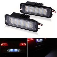 2x White 24-3528-SMD LED License Plate Light Error Free for VW Golf EOS Porsche