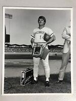Rare Pete Rose 8x10 Photo At Dodger Stadium Charlie Hustle Cincinnati Reds