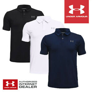 Under Armour Boys Golf Polo Shirt Performance Solid - NEW! 2021 *MULTI-BUY*