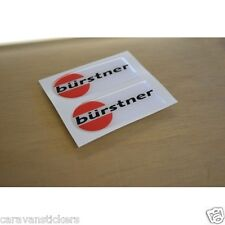 BURSTNER Caravan - (RESIN DOMED) - Dent Cover Stickers Decals Graphics - PAIR