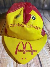 Vintage McDonald's CHICKEN MCNUGGETS Hat, Beak/Mesh Sides/Eyes/Arch - RARE