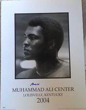 Muhammad Ali Center 2004 Signed Lithograph Rare OLA Online Authentics Coa