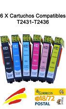 6 TINTAS COMPATIBLES NON OEM PARA USAR EN EPSON EXPRESSION PHOTO 850 XP850