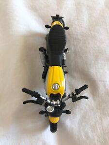 Old Scale Model Burago Ducati Scrambler Motorcycle 1/18