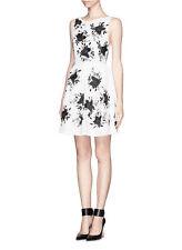 Alice + Olivia Lillyanne Embellished Open-Back Silk-Twill Dress Size:6 $700 NEW